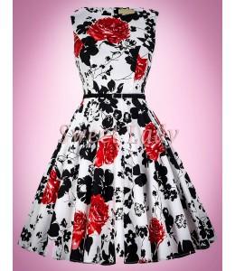 Krásne vzorované vintage šaty
