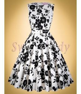 Kvetované vintage šaty