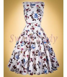 Bavlnené vintage šaty so vzorovanou potlačou