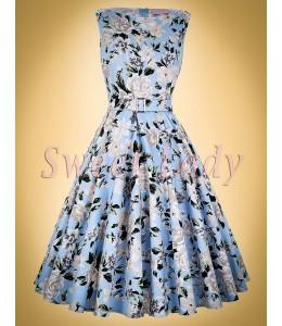 Bavlnené vzorované šaty v štýle retro