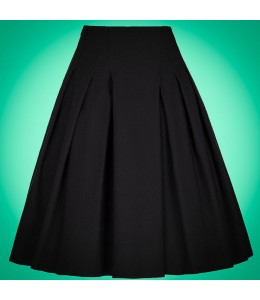 Čierna retro sukňa