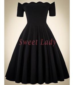 Elegantné čierne vintage šaty