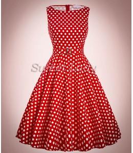 Bodkované šaty v štýle 50. rokov s áčkovou sukňou