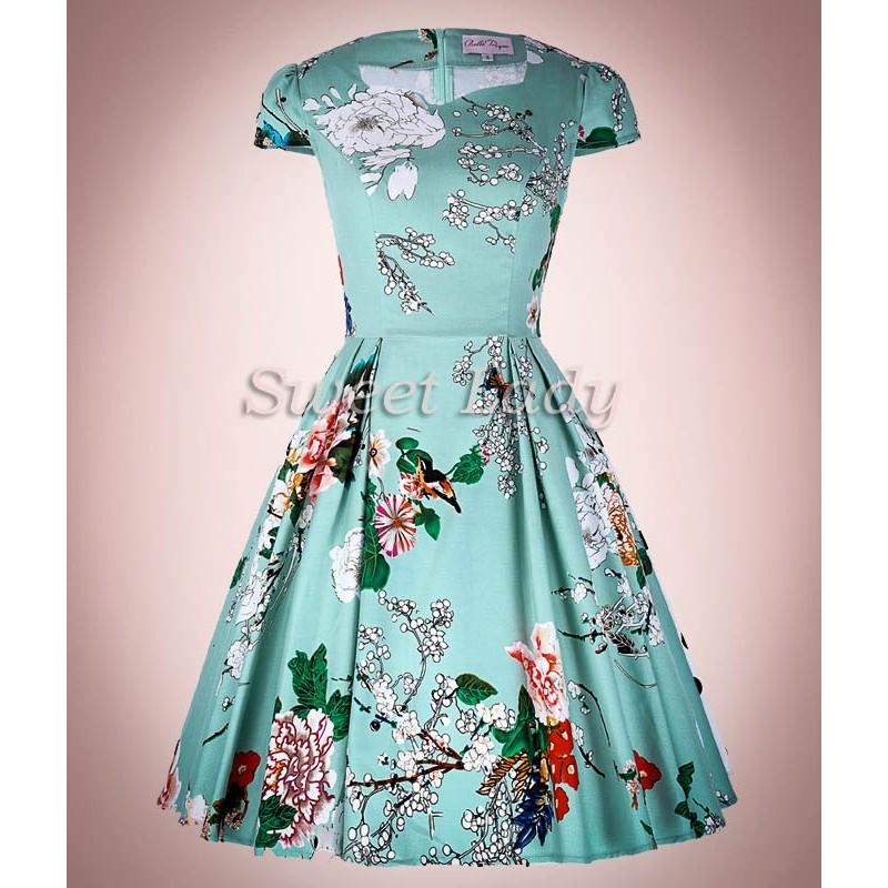 Kvetované šaty v štýle 50. rokov 17638b384e1