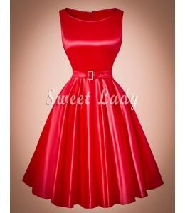 Elegantné vintage červené šaty
