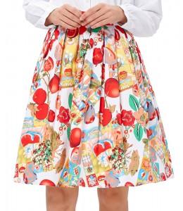 Roztomilá vzorovaná sukňa v štýle 50-tych. rokov