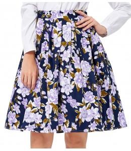 Vzorovaná áčková sukňa v štýle 50-tych. rokov