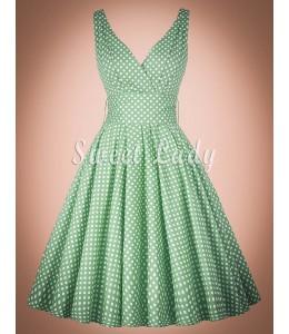 Jemné retro šaty zelenej farby
