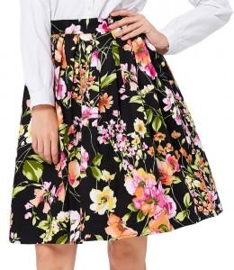 Krásna vzorovaná áčková sukňa