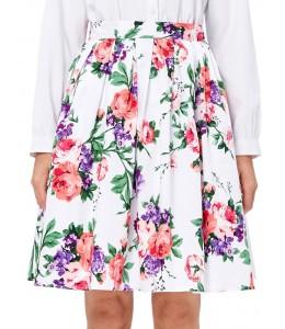 Krásna kvetovaná retro sukňa