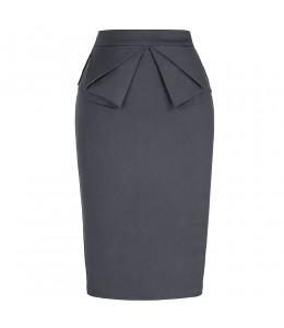 Elegantná priliehavá čierna retro sukňa