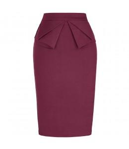 Elegantná bordová retro sukňa