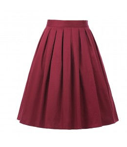 Jednoduchá bordová vintage sukňa