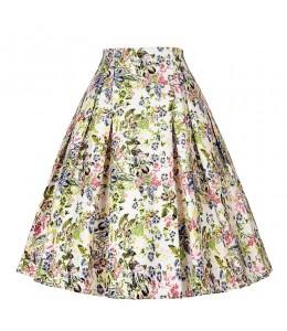 Vzorovaná áčková sukňa v štýle retro