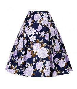 Áčková vzorovaná vintage sukňa