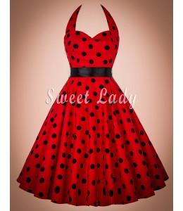 Očarujúce bodkované vintage šaty