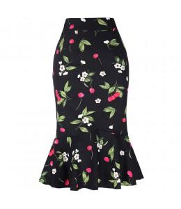 Priliehavá čerešničková sukňa