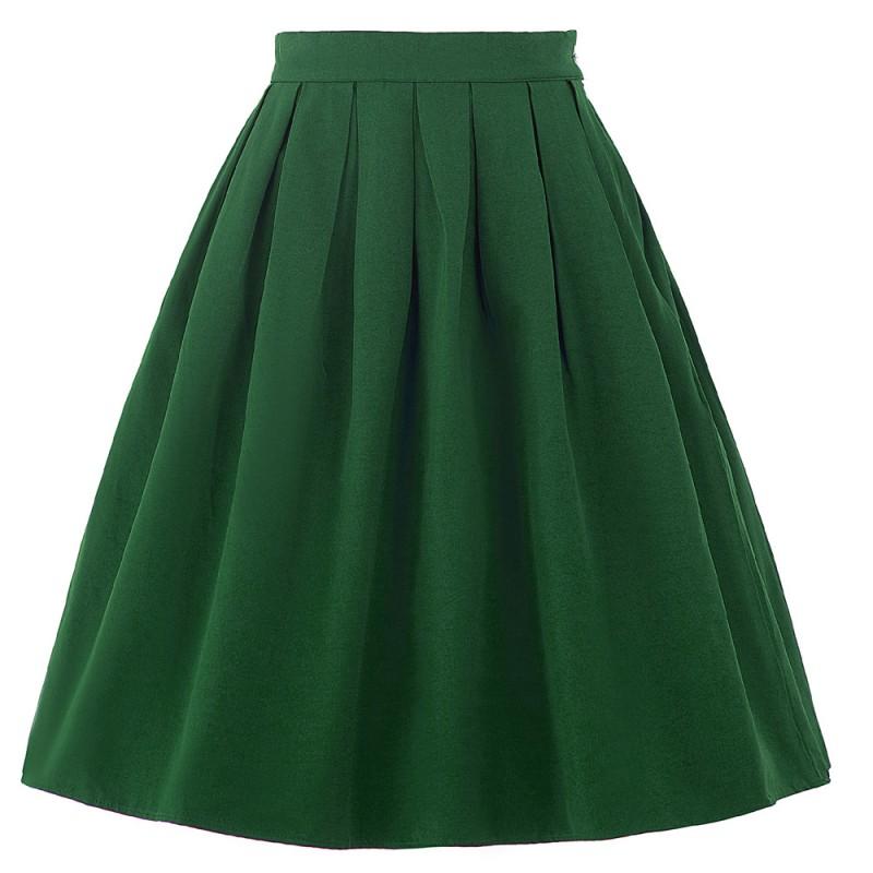 b636c9ed443 Jednoduchá áčková zelená retro sukně. Loading zoom