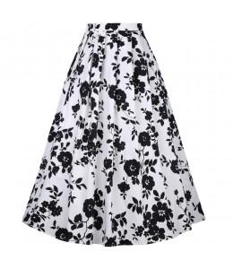 Dlhá vzorovaná retro sukňa