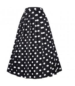 Krásna dlhá bodkovaná vintage sukňa