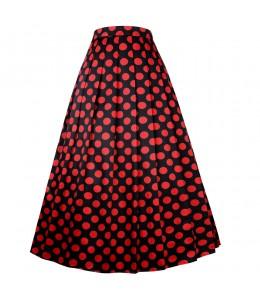 Krásna bodkovaná sukňa v štýle vintage