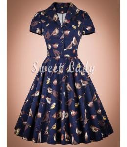 Netradičné vintage šaty so vzormi