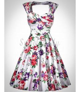 Kvetované šaty v štýle vintage