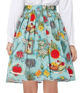 Vzorovaná vintage sukňa