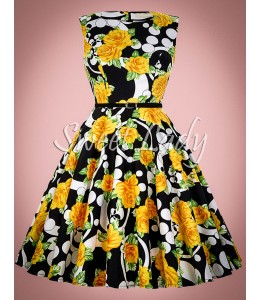 Krásne retro šaty s kvetovaným vzorom
