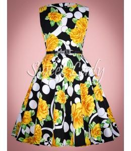 Detské vzorované vintage šaty