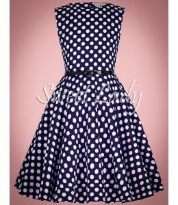 Detské bodkované šaty v štýle vintage