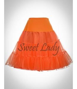 Oranžová spodnička pod retro šaty 18