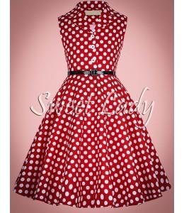 Detské bodkované šaty v štýle retro