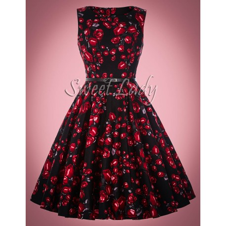 Vintage šaty s ružičkami