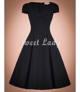 Šaty v štýle vintage čiernej farby
