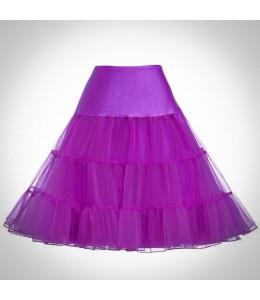 Fialová spodnička pod retro šaty 6
