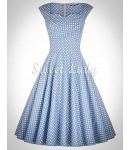 Jemné bodkované šaty z 50. rokov