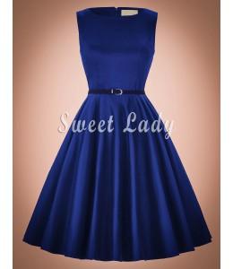 Elegantné vintage šaty so širokou sukňou