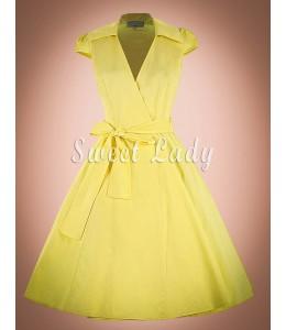 Letné vintage šaty s áčkovou sukňou