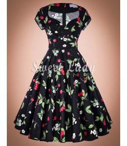 Romantické retro šaty s kvetinami