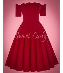 Jednoduché rudé vintage šaty