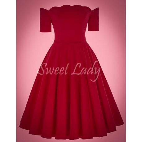 Jednoduché červené vintage šaty
