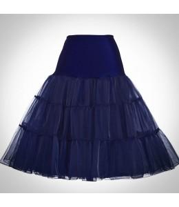 Tmavomodrá spodnička pod retro šaty 11