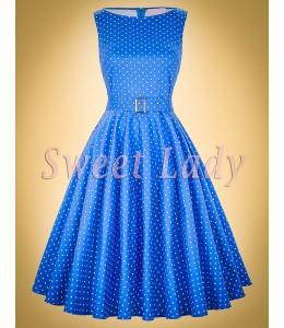 Roztomilé puntíkované šaty ve stylu vintage