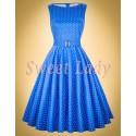 Roztomilé bodkované šaty v štýle vintage