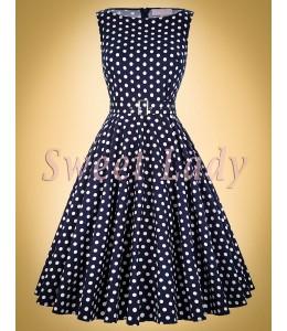 Krásné puntíkované retro šaty