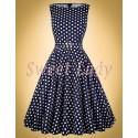 Krásne bodkované retro šaty