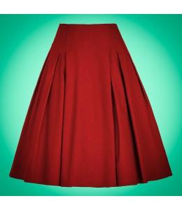 Červená retro sukňa