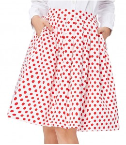 Roztomila tečkovaná sukně