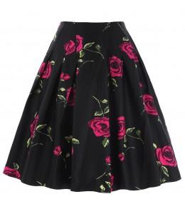 Krásna kvetovaná vintage sukňa